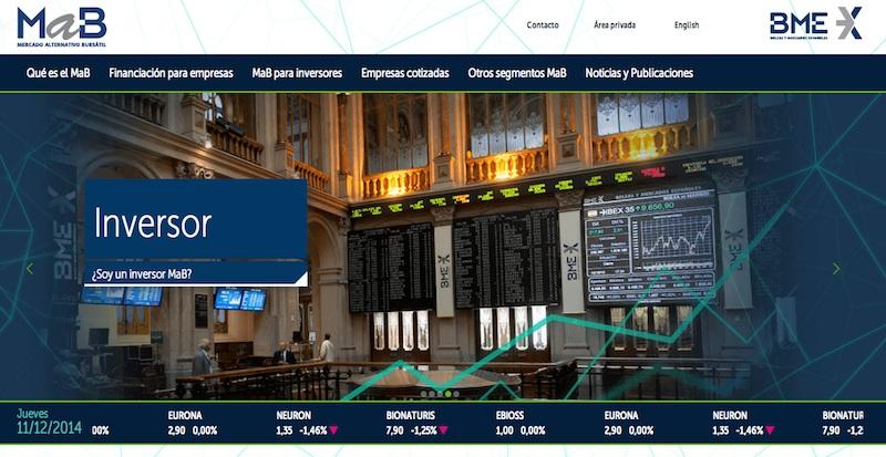 Nueva web del MAB (dic 2014)