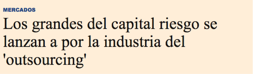 capital riesgo y outsourcing 2016