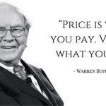warren buffett precio valor